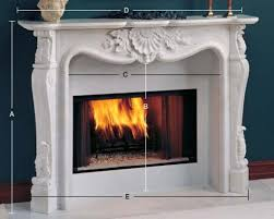pleasant and appealing marble fireplace mantel designed for
