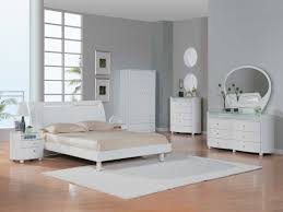 Laminate Bedroom Furniture by White Bedroom Decoration Ideas Showing Grey Painted Wall And White