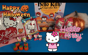 hello kitty halloween cupcakes surprise eggs blind bags and