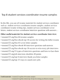 Sample Resumes For Teens by Top8studentservicescoordinatorresumesamples 150511080306 Lva1 App6891 Thumbnail 4 Jpg Cb U003d1431331433