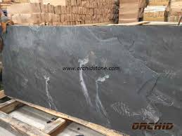 buy honed black slate slab for fireplace honed black slate slab