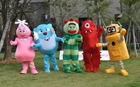 foofa mascot costume foofa yo gabba gabba costume