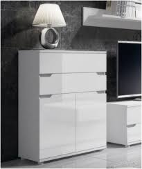 gloss white lounge sideboard cabinet compact storage unit office