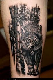 bad wolf in the forest tattoo in 2017 real photo pictures