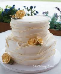 wedding cake layer fondant wrapped layers wedding cake cakecentral