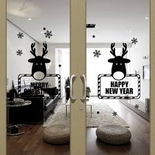window snowflakes deer christmas promotion shop for promotional removable christmas wall sticker deer snowflake window wall decor art decals washable wall stickers home decoration