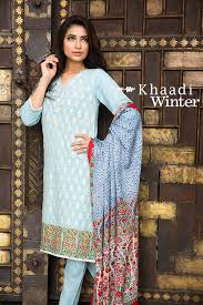 khaadi autumn winter unstitched 3pc embroidered suits 2015 2016