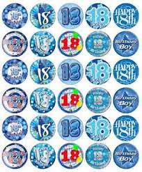where to buy edible paper 18th birthday boy blue cupcake toppers edible paper buy 2 get 3rd