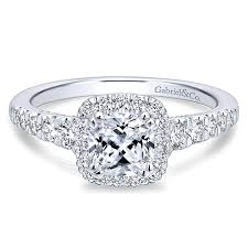 engagement rings with halo marcotte jewelry balsam 14k white gold cushion cut halo