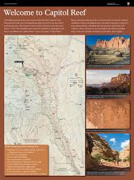 Capitol Reef National Park Map Wayside Exhibits Capitol Reef National Park U S National Park