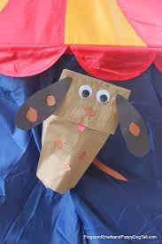 diy paper bag dog hand puppet diy craft kids everyday kid