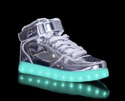 light up shoes chrome silver led light up shoes hi tops by rave kixx rave kixx