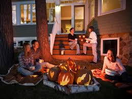 how to make a halloween pumpkin faux bonfire how tos diy