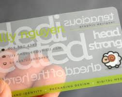 Clear Business Cards 200 Business Cards Clear Transparent Plastic Stock Full
