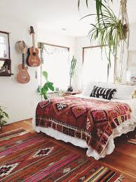 Guitar Area Rug Lovely Boho Chic Bedroom With Wood Laminate Floor Decorated With