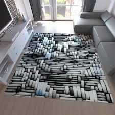 teppiche design moderner design teppich in 3d optik blau grau creme t011v vimoda
