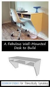 space saving diy wall mounted desk domestically speaking