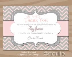 thank you card for baby shower baby shower thank you note wording 958