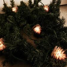 christmas garland with lights best 9 foot christmas garland w adorable strand of pine cone
