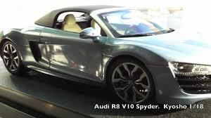 Audi R8 Jet Blue - audi r8 v10 spyder kyosho 1 18 youtube