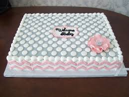 all buttercream with fondant chevron and flower made with 5 petal
