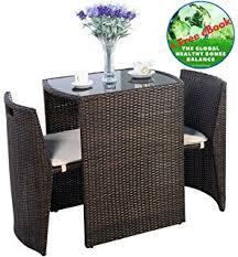 Outdoor Furniture Patio Amazon Com Giantex 3 Pcs Cushioned Outdoor Wicker Patio Set