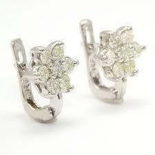 rositas earrings vintage estate 14k white gold diamond rosita cluster ring