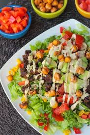 black bean taco salad w crunchy roasted chickpeas veggie inspired