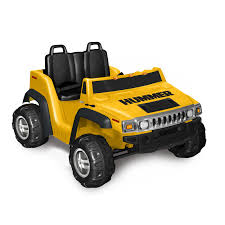 yellow jeep kid motorz two seater hummer h2 boys u0027 12 volt battery powered ride