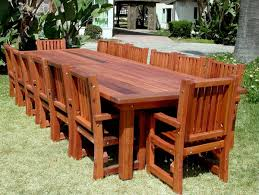 Outdoor Wooden Patio Furniture Wood Patio Tablere Breathtaking Design Ideas Rectangle Brown