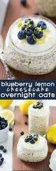 blueberry lemon cheesecake healthy overnight oats recipe