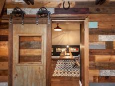 How To Make A Barn Door Track How To Hang An Interior Barn Door Track System How Tos Diy