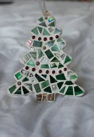 greens blue mosaic ornament glass needle works tile