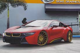 bmw i8 gold or not austin mahone gave his bmw i8 a unique twist