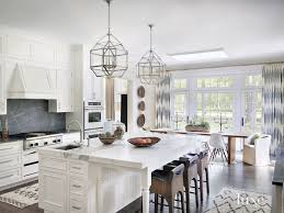 marble island kitchen contemporary white kitchen with gold marble island luxe