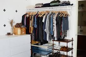 small closet 9 ways to organize a bedroom with no closets apartment therapy