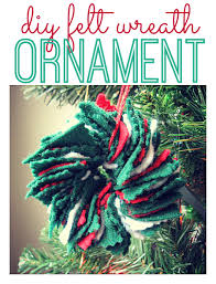 diy felt wreath ornament no time for flash cards