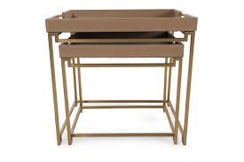Contemporary End Tables In Out Box Contemporary End Tables In Brown Mathis Brothers