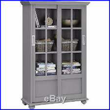 2 Shelf Bookcase With Doors Tall 51display Storage Cabinet 4 Shelf Bookcase 2 Sliding Glass