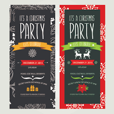 2015 christmas party invitation banners vector 02 vector banner