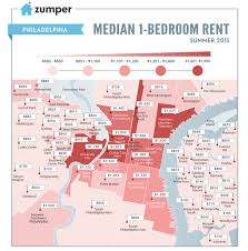 Rent A 1 Bedroom Flat Rent Watch Map Shows Philly U0027s 3 Most Expensive U0027hoods For A 1