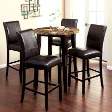 Dark Dining Room Table by Dining Room Small Round Target Dining Table With Set Of 4 Dark