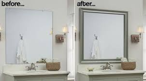 Bathroom Mirror Frames Kits Bathroom Mirror Frames 2 Easy To Install Sources A Diy For Mirror