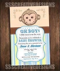 baby shower boy u2013 little monkey u2013 cute u2013 monkey u2013 blue