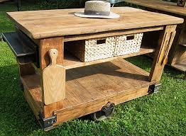 outdoor kitchen island designs oak unpainted movable rustic kitchen island with double rack and