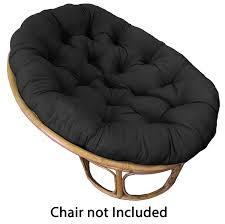 Chair Cushion Color Amazon Com Cotton Craft Papasan Chair Cushion Black Pure 100