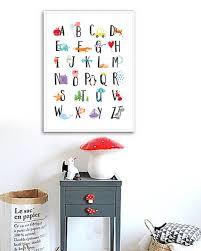 alphabet print alphabet nursery wall art alphabet poster abc zoom