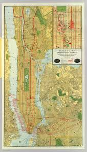 Map Of Manhattan New York City by Map Of Nyc Railroads 1918