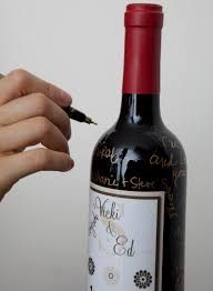 wine bottle guest book a great alternative to the traditional wedding guest book