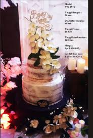 wedding cake by pelangi cake bridestory
